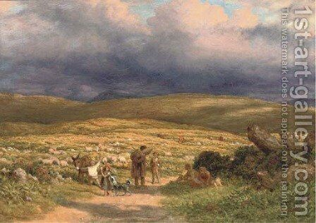 On the moor by James Thomas Linnell - Reproduction Oil Painting