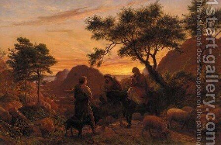 The Flight into Egypt by James Thomas Linnell - Reproduction Oil Painting