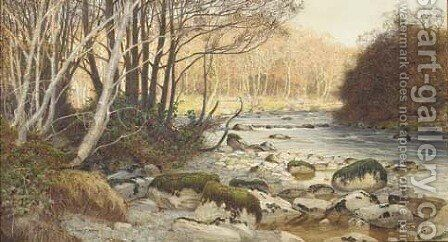 A quiet grey day by James Thomas Watts - Reproduction Oil Painting