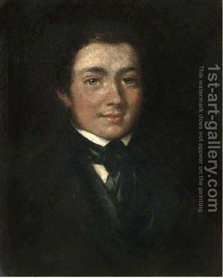 Portrait of Josias Herd Harling (1818-1850) by James Ward - Reproduction Oil Painting