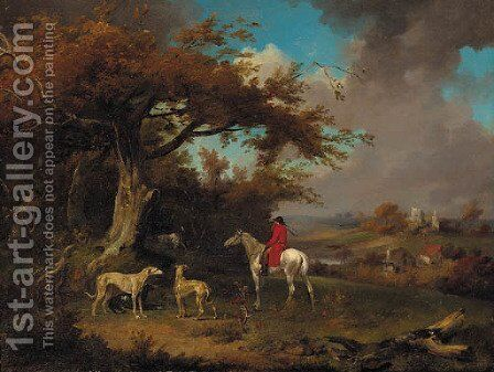 A huntsman and hounds on the edge of a wood by James Ward - Reproduction Oil Painting
