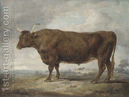 Portrait of an ox by James Ward - Reproduction Oil Painting