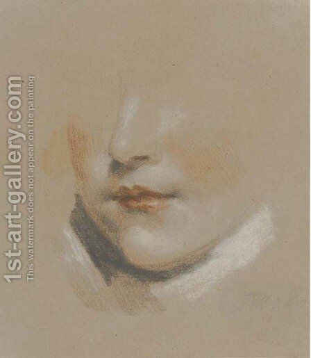 Study of the head of a boy by James Ward - Reproduction Oil Painting