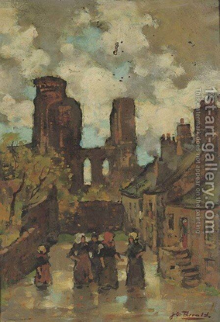 Fishwomen conversing on the street, St. Andrews by James Watterston Herald - Reproduction Oil Painting