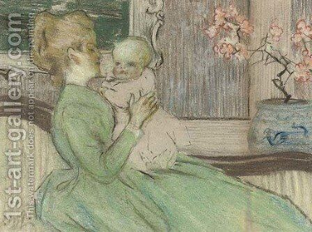 Mother and child by James Watterston Herald - Reproduction Oil Painting