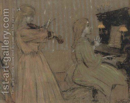 The duet by James Watterston Herald - Reproduction Oil Painting