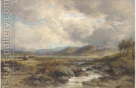 Near Bala, North Wales by James Webb - Reproduction Oil Painting