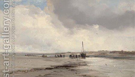 Old Shoreham, Sussex by James Webb - Reproduction Oil Painting