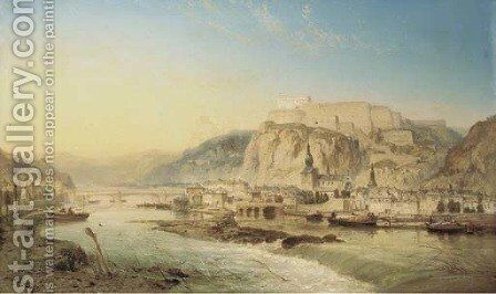 View of Dinant, Belgium by James Webb - Reproduction Oil Painting