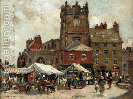 Market day, Richmond, Yorkshire by James Whitelaw Hamilton - Reproduction Oil Painting