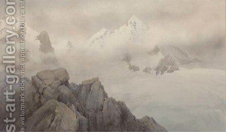 Scaling the peaks by James Whittet Smith - Reproduction Oil Painting