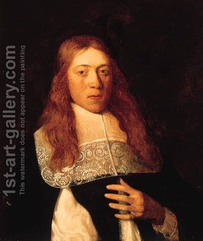 Portrait of a young man by Jan Albertz. Rotius - Reproduction Oil Painting