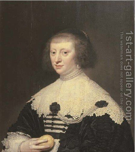 Portrait of a lady by Jan Anthonisz. van Ravestyn - Reproduction Oil Painting