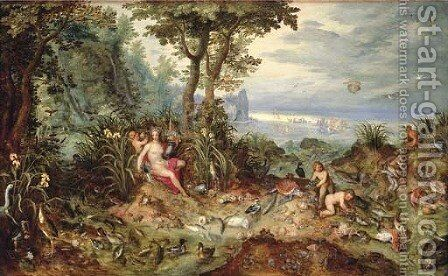An Allegory of Water by Jan, the Younger Brueghel - Reproduction Oil Painting