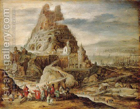 The Tower of Babel by Jan, the Younger Brueghel - Reproduction Oil Painting