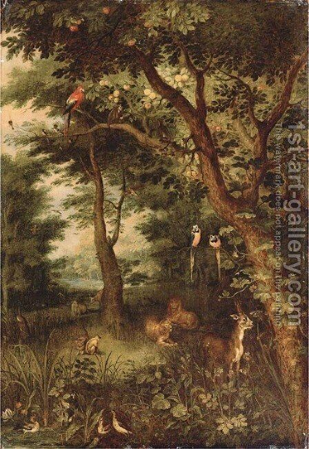 The Garden of Eden by Jan, the Younger Brueghel - Reproduction Oil Painting
