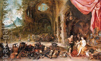 Venus at the Forge of Vulcan by Jan The Elder Brueghel - Reproduction Oil Painting