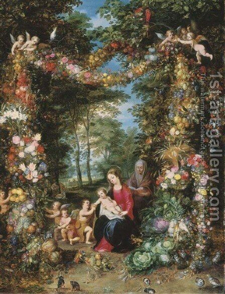 The Virgin and Child with the Infant Saint John the Baptist by Jan The Elder Brueghel - Reproduction Oil Painting
