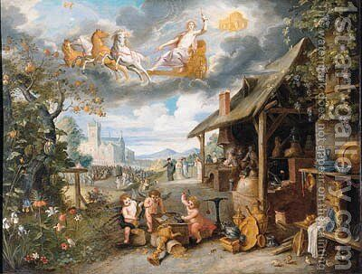Children of the planet Sun by Jan, the Younger Brueghel - Reproduction Oil Painting