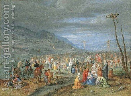 Calvary by Jan, the Younger Brueghel - Reproduction Oil Painting