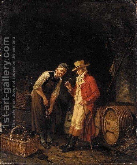 The tasting by Jan David Col - Reproduction Oil Painting