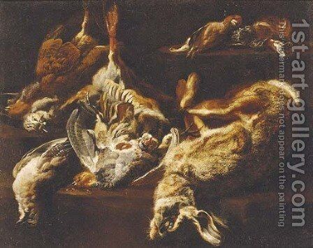 A hunting still life with a hare by Jan Fyt - Reproduction Oil Painting