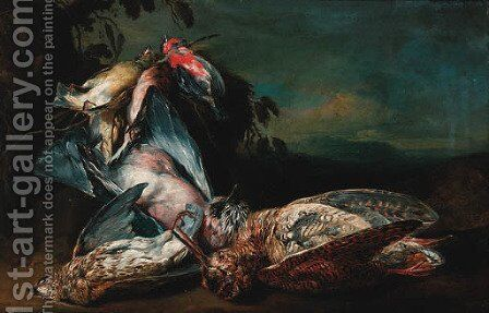 Dead songbird by Jan Fyt - Reproduction Oil Painting