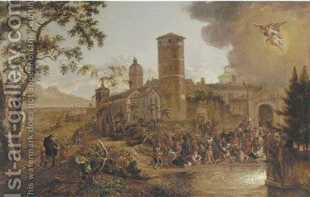The Pool of Bethesda by Jan Gabrielsz. Sonje - Reproduction Oil Painting