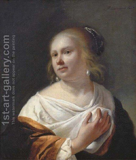 Portrait of a young lady by Jan Gerritsz van Bronchorst - Reproduction Oil Painting
