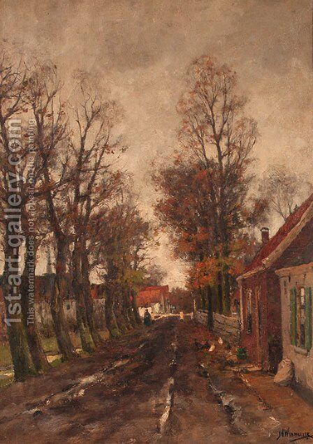 Sloterweg by Jan Hillebrand Wijsmuller - Reproduction Oil Painting