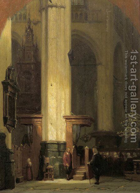 The commence of the service by Jan Jacob Schenkel - Reproduction Oil Painting