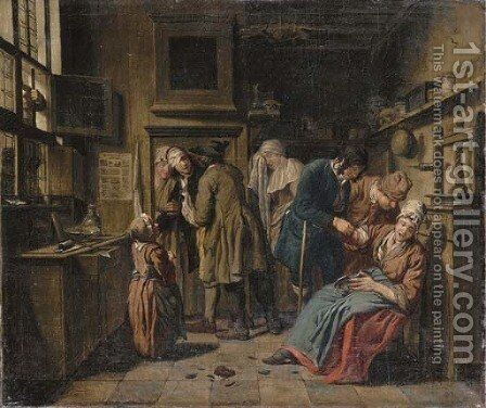 A doctor's surgery by Jan Jozef, the Younger Horemans - Reproduction Oil Painting