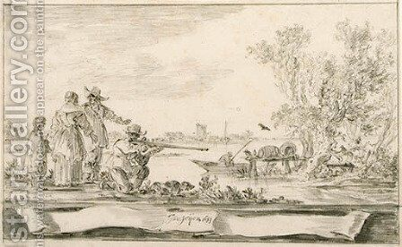 Untitled 3 by Jan van Goyen - Reproduction Oil Painting