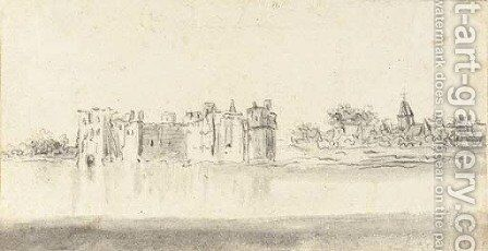 The Castle of Rupelmonde seen from across the river by Jan van Goyen - Reproduction Oil Painting