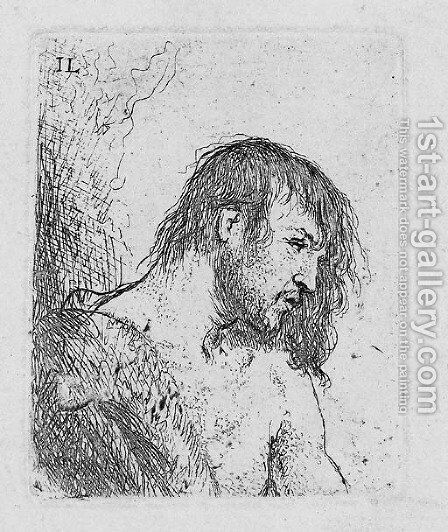 Bust of a naked Man by Jan Lievens - Reproduction Oil Painting