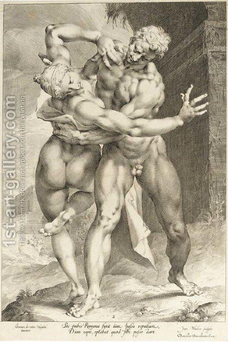The Rape of the Sabine Women by Jan Muller - Reproduction Oil Painting