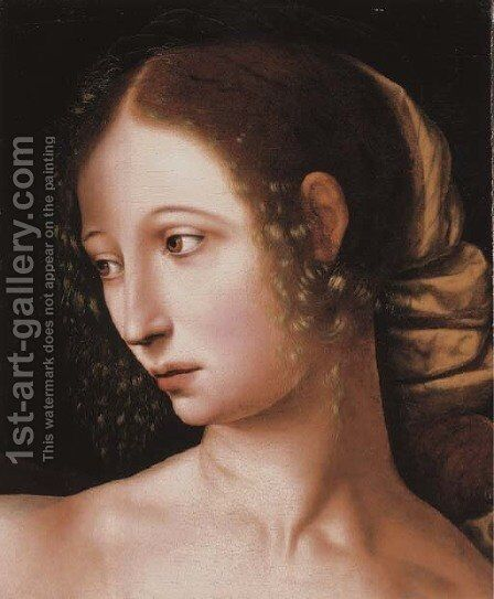 Lucretia a fragment by Jan Sanders Van Hemessen - Reproduction Oil Painting