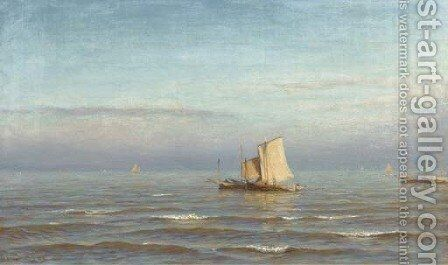 Sailing out to sea by Jan Theodore Kruseman - Reproduction Oil Painting