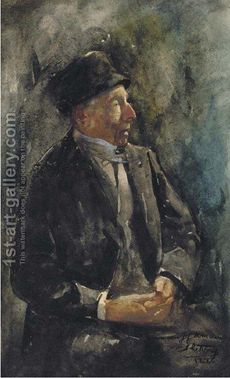 A portrait of a man by Jan Toorop - Reproduction Oil Painting