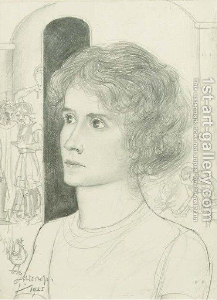 Portrait of a woman by Jan Toorop - Reproduction Oil Painting