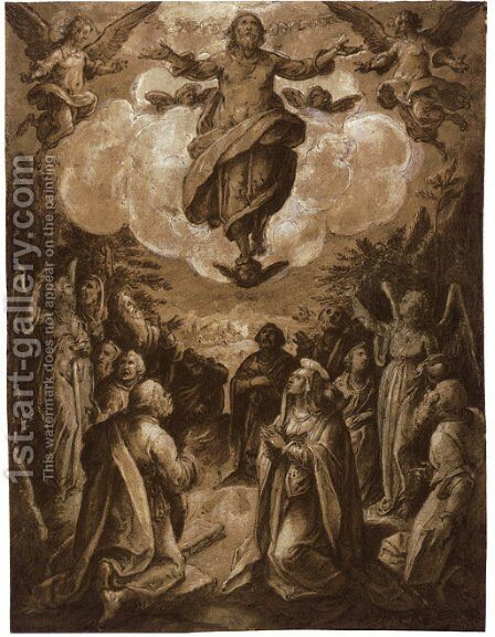 The Ascension by Jan van der Straet - Reproduction Oil Painting