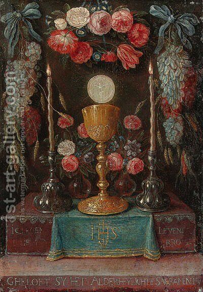 The second Sacrament by Jan van Kessel - Reproduction Oil Painting