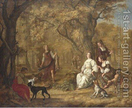 Diana and her Nymphs after the hunt by Jan Victors - Reproduction Oil Painting