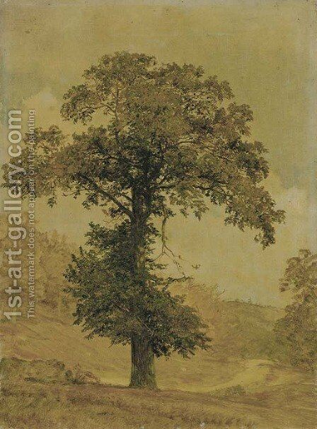 Study of a Tree by Jasper Francis Cropsey - Reproduction Oil Painting