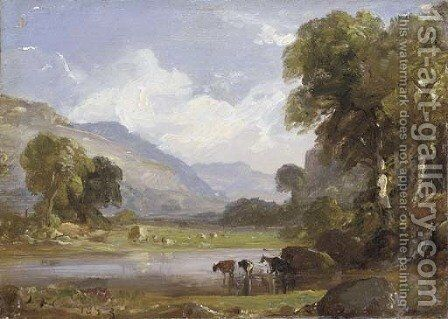 Summer Landscape by Jasper Francis Cropsey - Reproduction Oil Painting