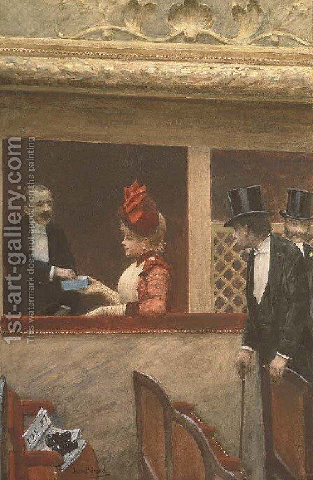 La loge au theatre by Jean-Georges Beraud - Reproduction Oil Painting