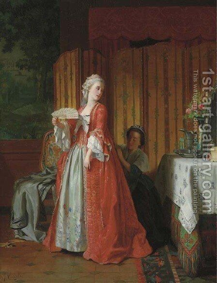 The Finishing Touches 2 by Jean Carolus - Reproduction Oil Painting