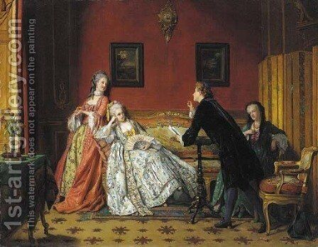 The poetic suitor by Jean Carolus - Reproduction Oil Painting