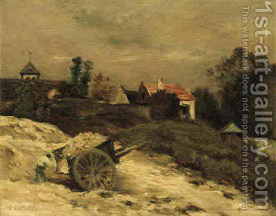 Harvesting Hay by Jean-Charles Cazin - Reproduction Oil Painting