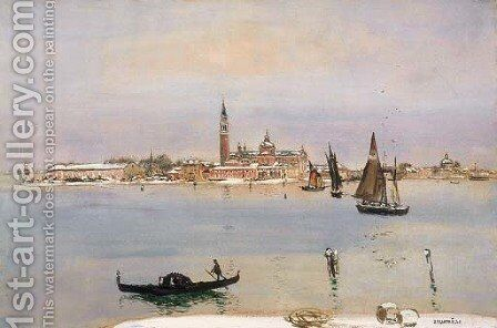 Venice under Snow by Jean-Francois Raffaelli - Reproduction Oil Painting